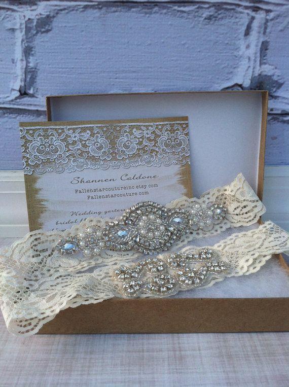 Rhinestone wedding garter /  crystal by FallenStarCoutureInc, $39.99