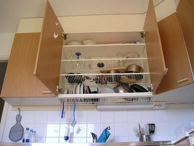 handwash dishes more efficiently with a dish draining overhead cabinet - Kitchen Overhead Cabinets