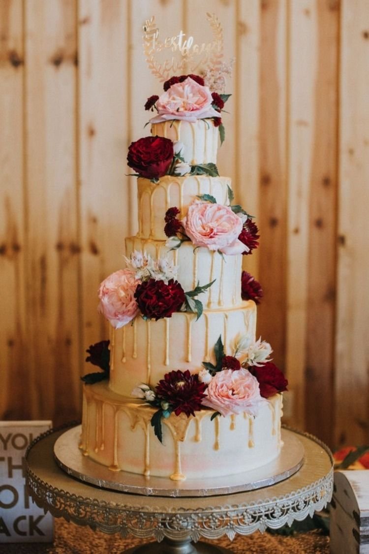 2020 Wedding Cake Trends 25 Drip Wedding Cakes Floral