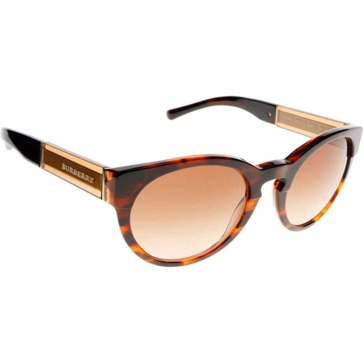 Burberry BE4205 Sunglasses 355913-54 - Top Dk Havana/light Havana Frame, Brown Gradient. Authentic Frames.