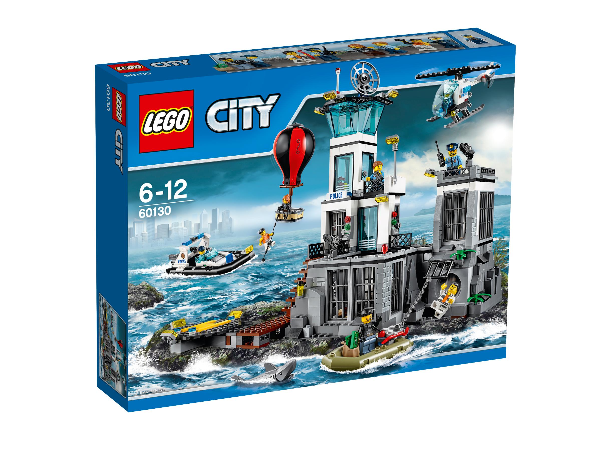 LEGO® City 60130 Polizeiquartier auf der Gefängnisinsel Bauanleitungen
