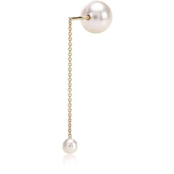 Sophie Bille Brahe Babylon Perle 14kt gold and pearl single earring RaB6X