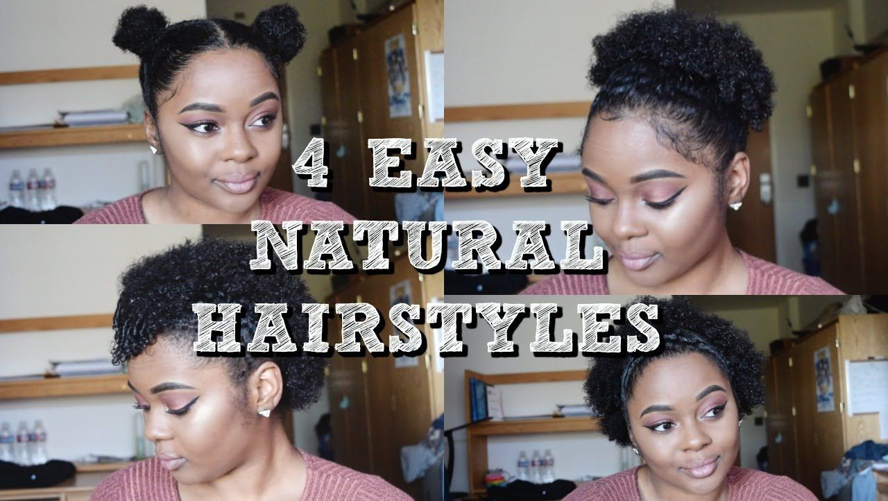 easy natural hairstyles twa style hair pinterest easy