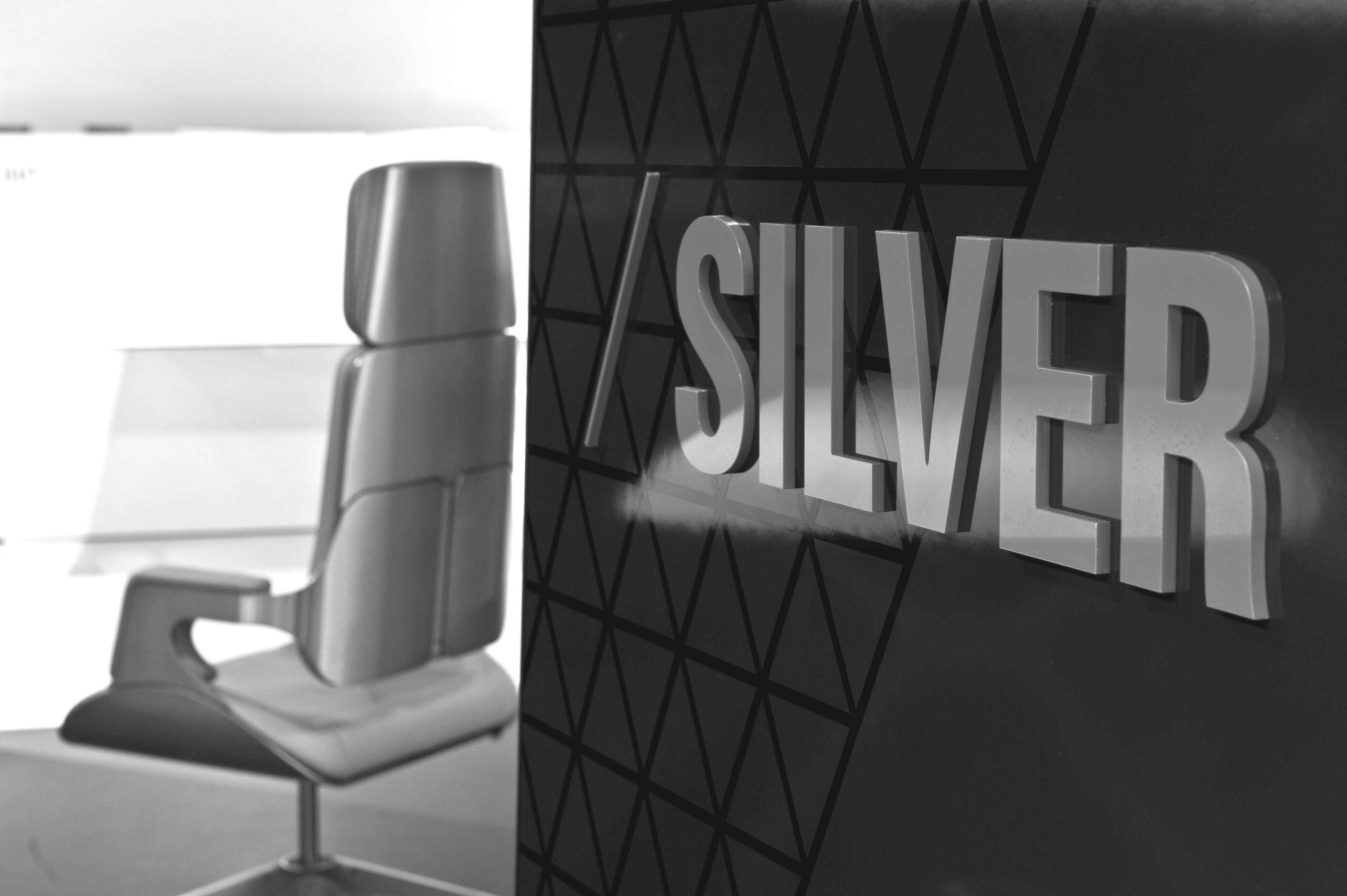 Interstuhl Silver in silver and gold by Hadji Teherani Design Chairs