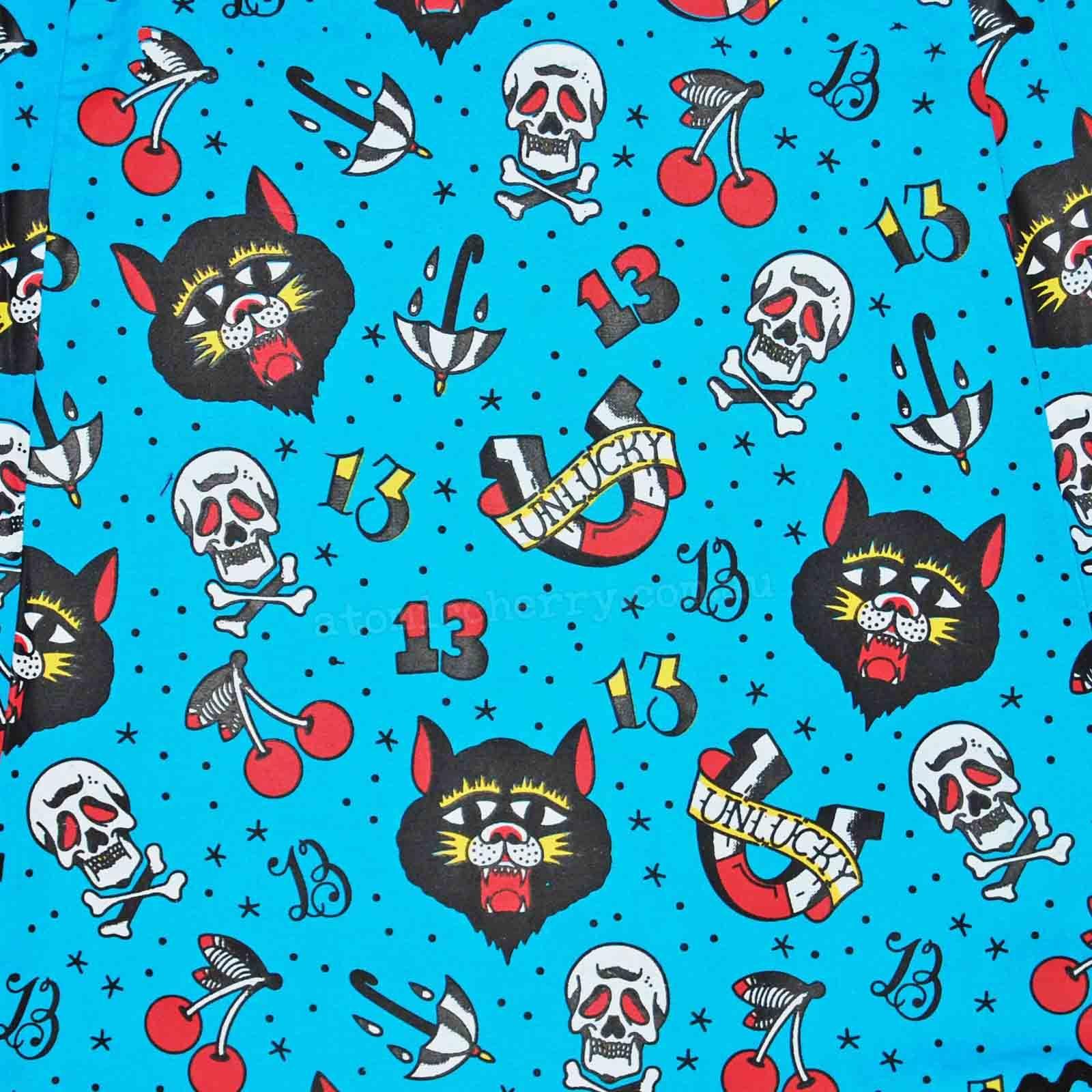 Rockabilly Wallpaper: Unlucky Tattoo Flash Rockabilly Halter Dress Pin Up Punk