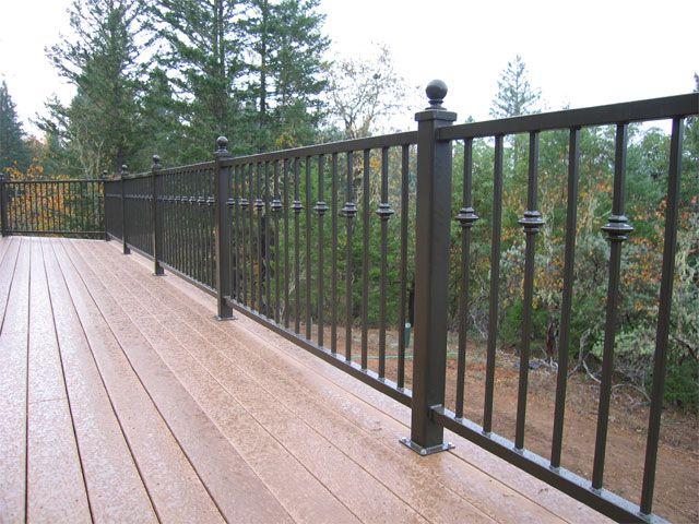 Metal Railings For Decks   Aquilla Exterior Deck Rail 1