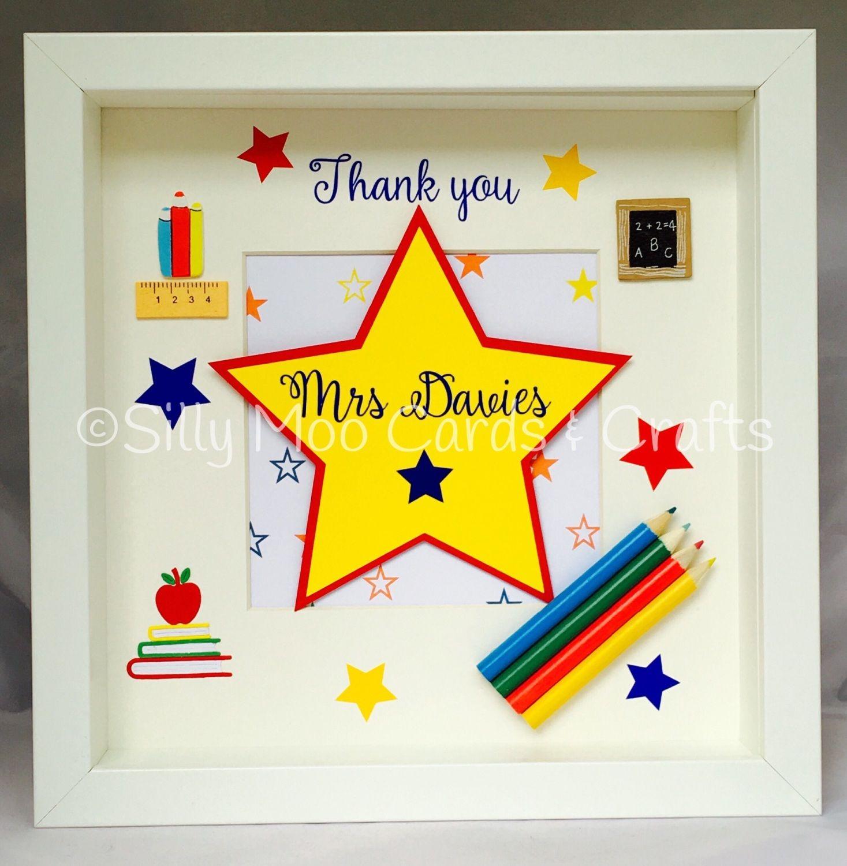 Lovely thank you teacher box frame the design and wording has lovely thank you teacher box frame the design and wording has been cut jeuxipadfo Choice Image