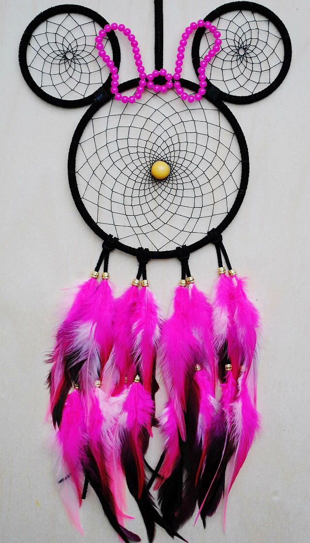 Pink Minnie Mouse Dreamcatcher. By Village Dreams on Etsy.