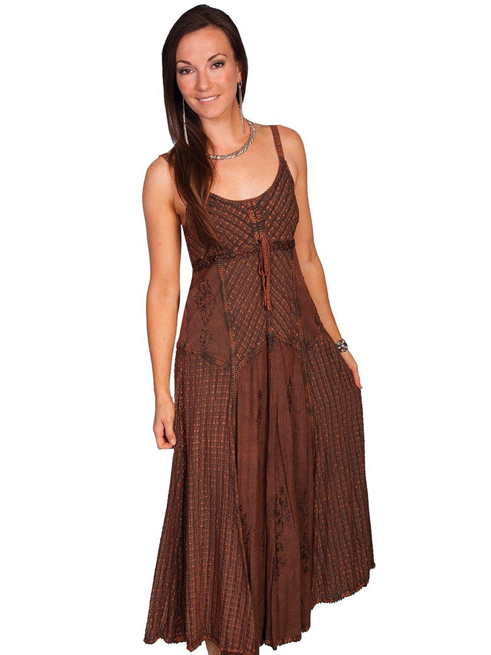 86646adea Scully Honey Creek Rayon Spaghetti Strap Dress - Copper