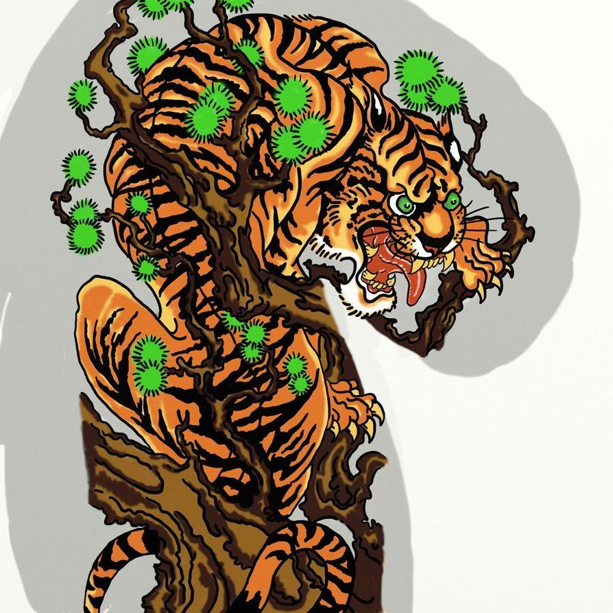 japanese tiger art japanese tiger by vinzsacha things japan pinterest tigers art and. Black Bedroom Furniture Sets. Home Design Ideas