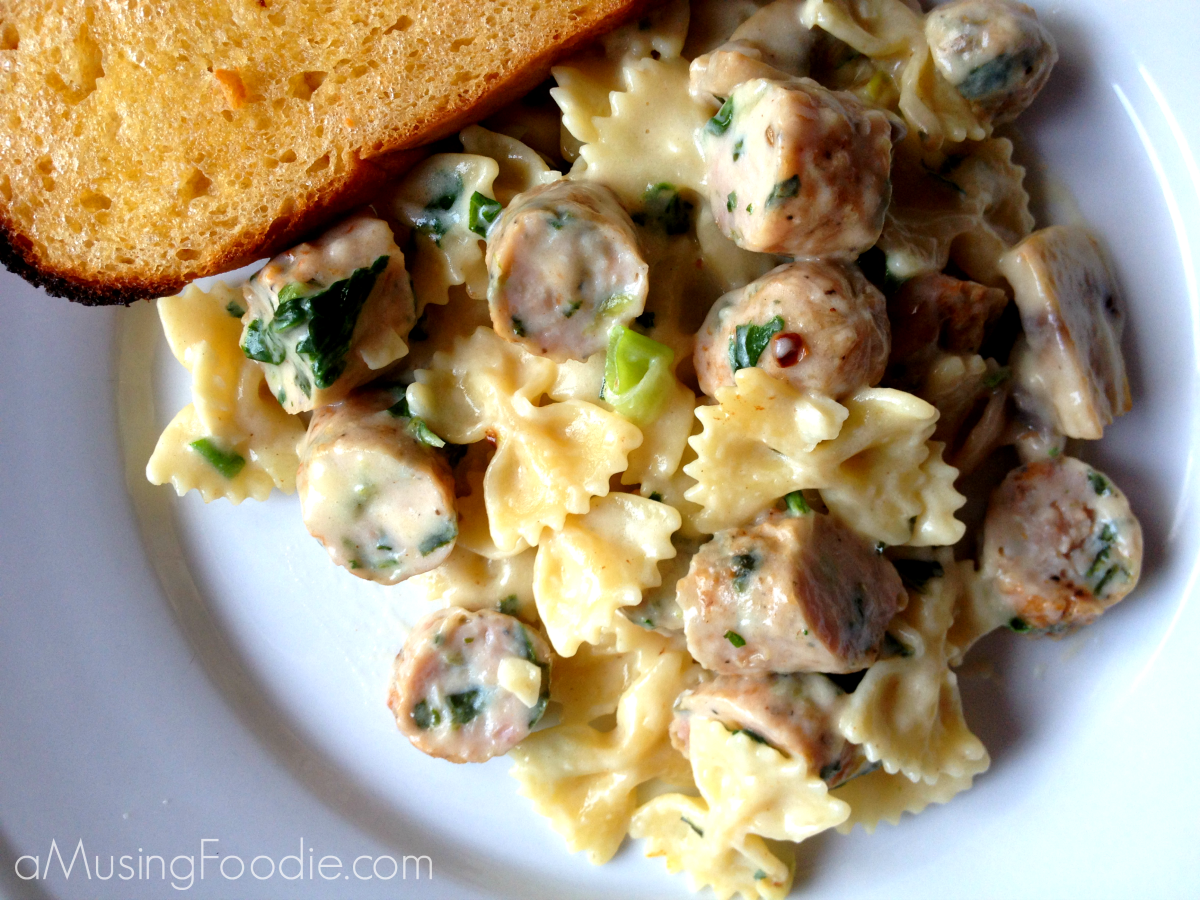 Recipe for farfalle with chicken