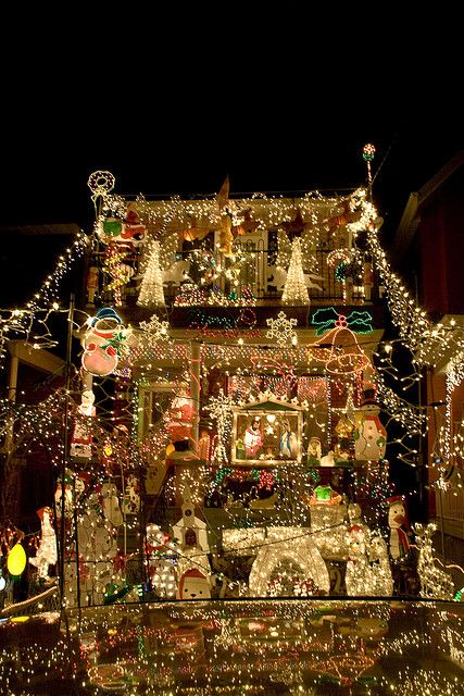Crazily Christmas Lights Decorated House Somewhere In The Heart Of Little  Portugal In Toronto. See