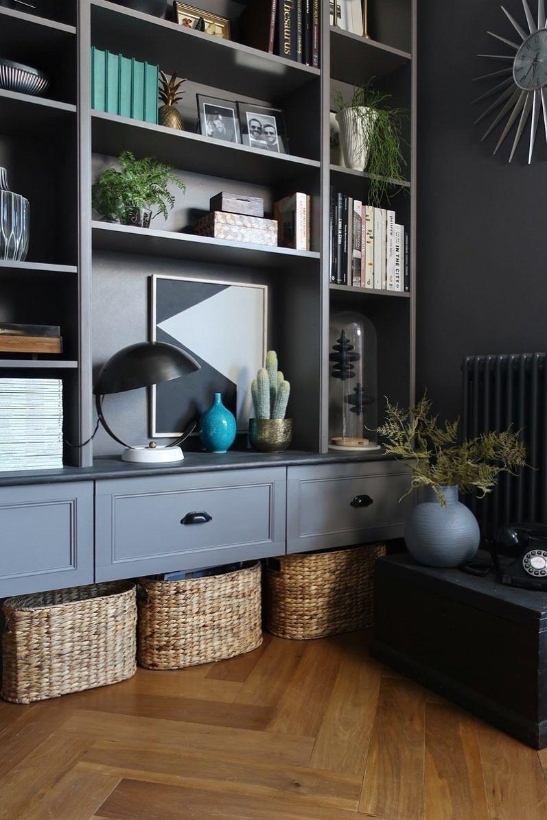 Ikea billy bookcase builtin hack bookcases pinterest ikea