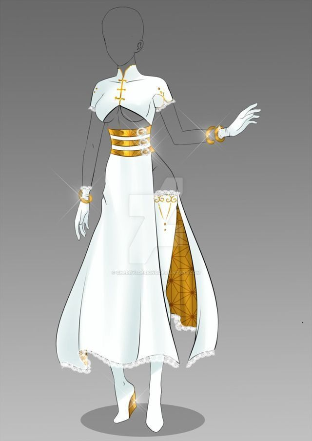 White and gold princess warrior dress