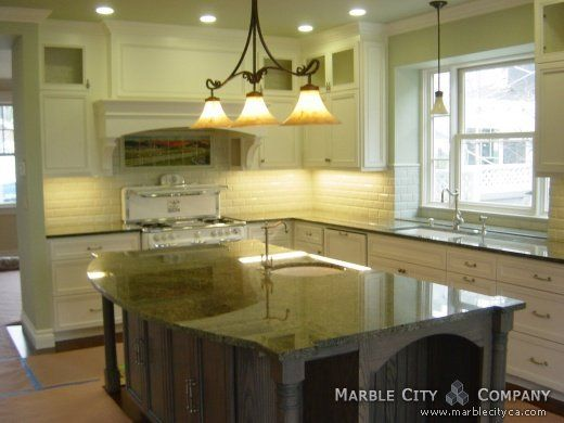 Kitchens With Green Countertops
