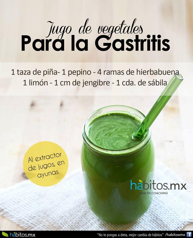 jugos para eliminar la gastritis