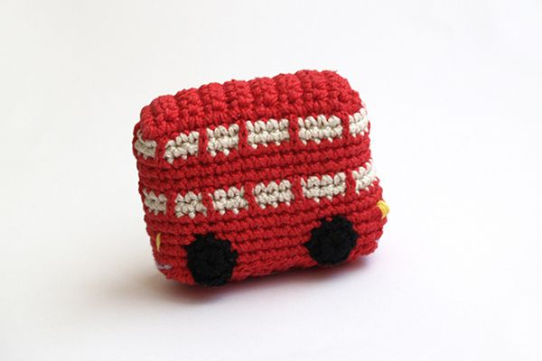 La Cabina London : Red london bus handmade by silayaya another amigurumi telephone