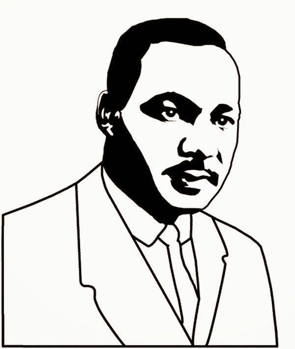 martin luther king jr color pages - martin luther king coloring pages picture 600 711