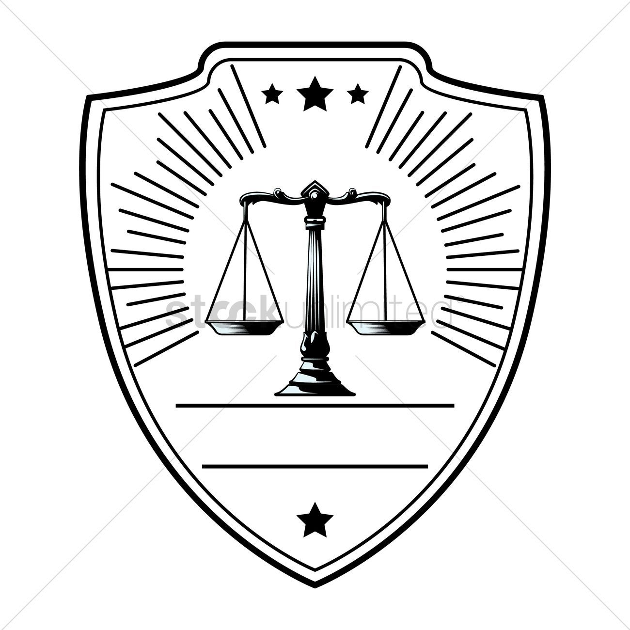 Law logo element vectors stock clipart