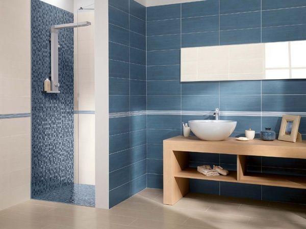 Bagno blu ~ Rivestimento da bagno blu cream full ceramiche supergres bagno