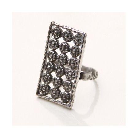 In Harmony Grid Ring, Pure Jewelry, $144 via boutiika.com