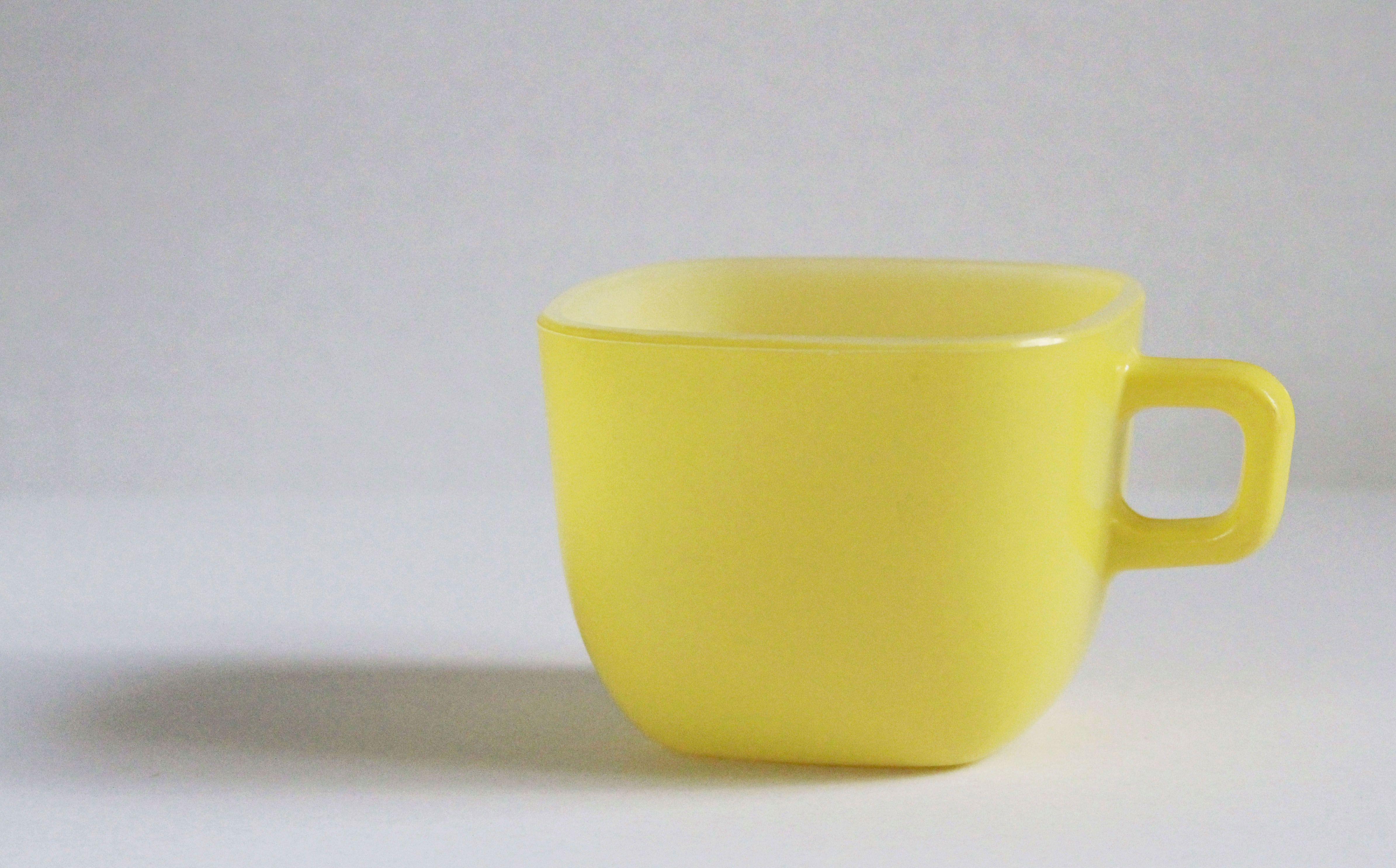 Glasbake yellow Lipton mug found for $0.80