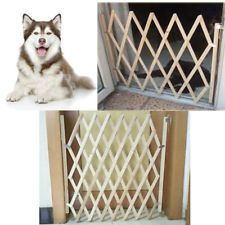 Folding Expandable Swing Wood Dog Pet Cat Gate Home Safety Fence