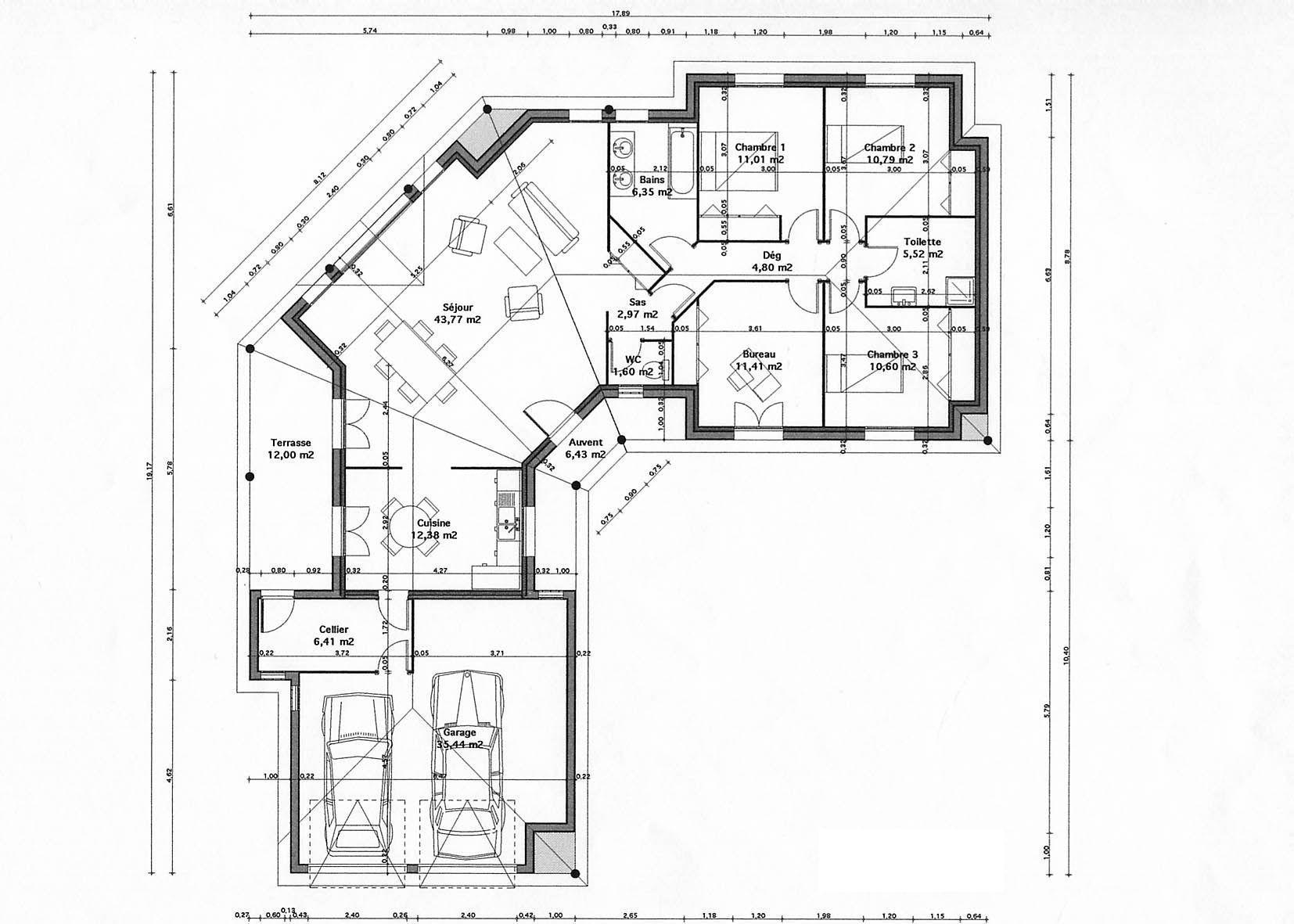 Plan Maison En V Plan Maison Plain Pied Plan Maison Plan De Maison Gratuit