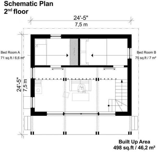 Best Two Story Flat Roof House Plans Billie Flat Roof House 400 x 300