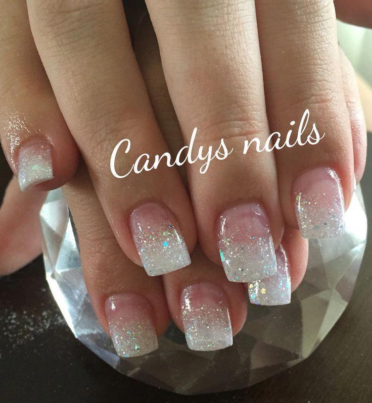 how to do glitter acrylic nails