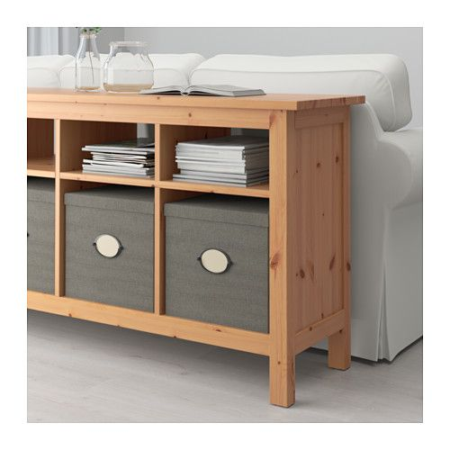 Hemnes Coffee Table White Stain 90x90 Cm: HEMNES Console Table, Black-brown