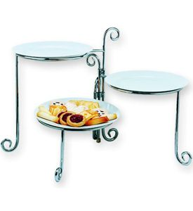 Excellent 3 Tier Folding Plate Rack In Chrome Fantasy Tea Party Beutiful Home Inspiration Cosmmahrainfo