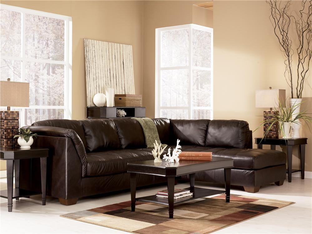 Harrington Chocolate Sofa Sectional By Signature Design Ashley