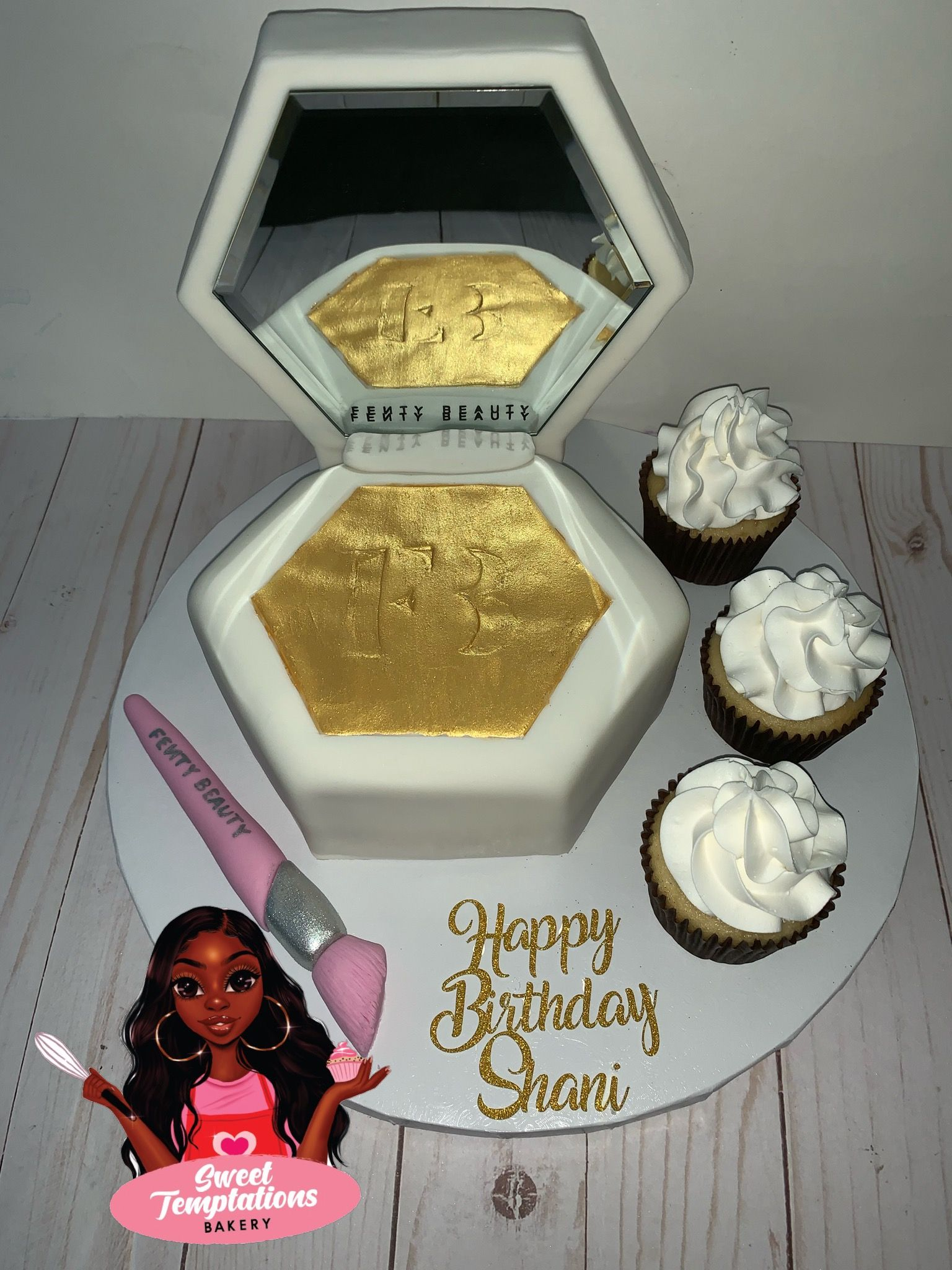 Incredible Fenty Fentybeauty Rihanna Trophywife Cake Makeup Highlighter Personalised Birthday Cards Paralily Jamesorg
