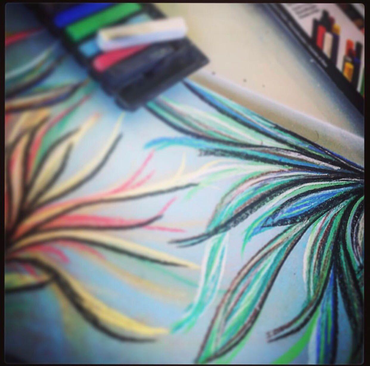 Trazos By Karen Gutierrez Tecnica Tiza Pastel