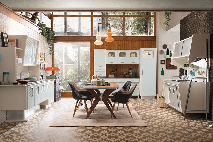 642627394 Give your home a vintage vibe with the Saint Louis Kitchen Vintage Kitchen  Offers A Refreshing Modern Take On Fifties Style