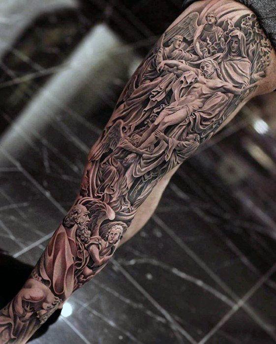 75+ Rosary Tattoos to Flaunt the Beauty of the Catholic Faith