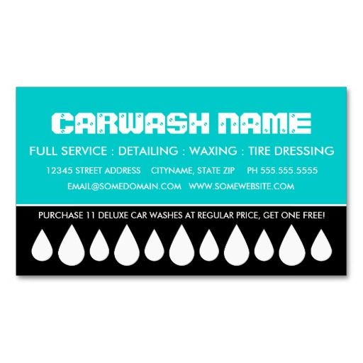 Car Wash Punch Card Business Cards 03282015 Shipped To Carrum Downs Australia Store Identica Zazzle Asyrum