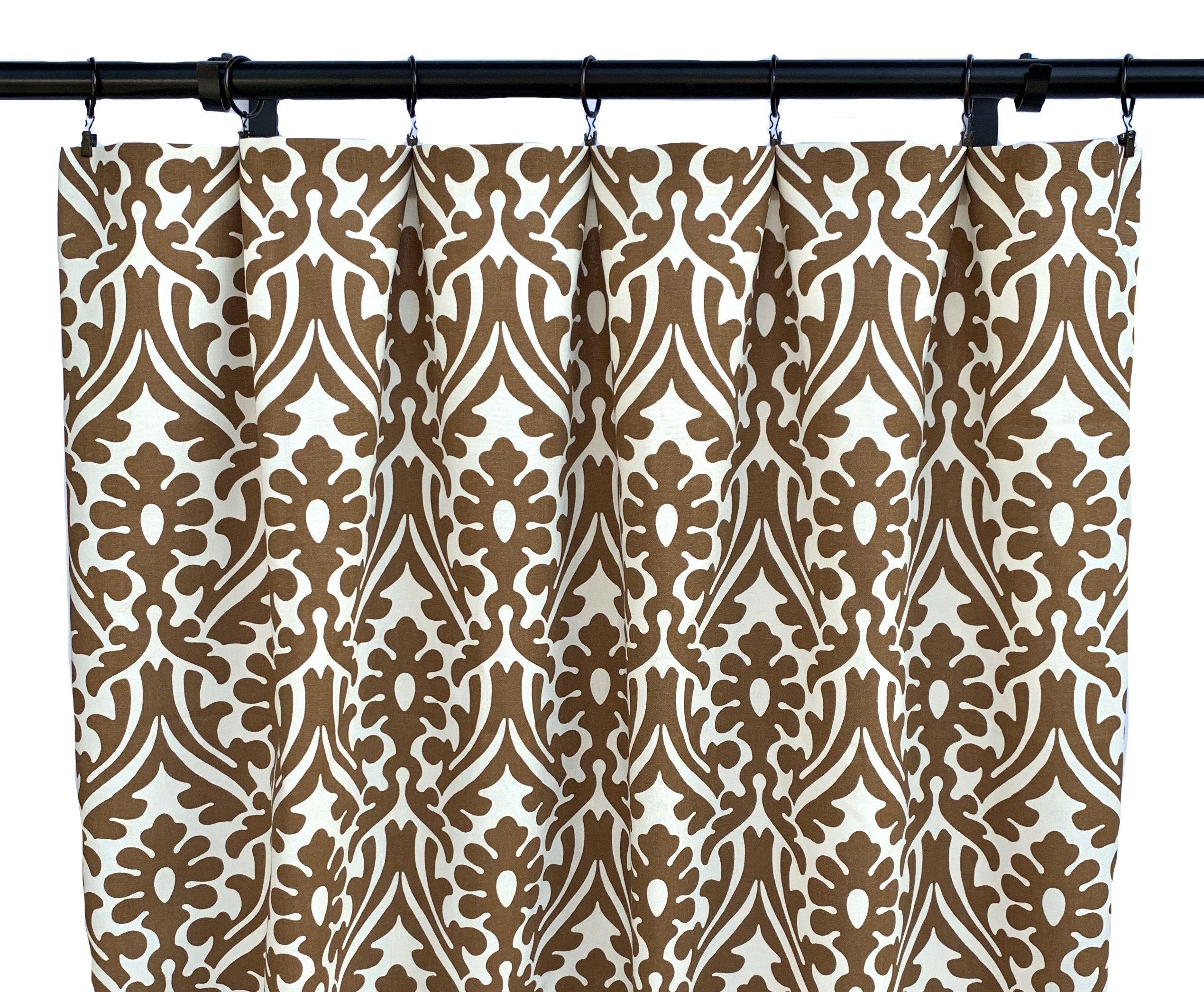 Caramel Brown Shibori Curtains Boho Curtain 2 Curtain Panels