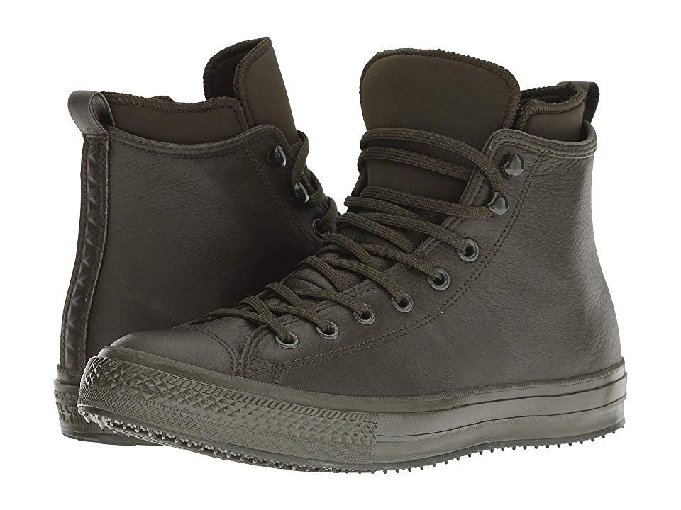 ab61ebe38e0 Converse Chuck Taylor All Star Waterproof Boot - Hi (Utility Green Utility  Green) Lace up casual Shoes. Converse keeps the rain at bay with the Chuck  Taylor ...