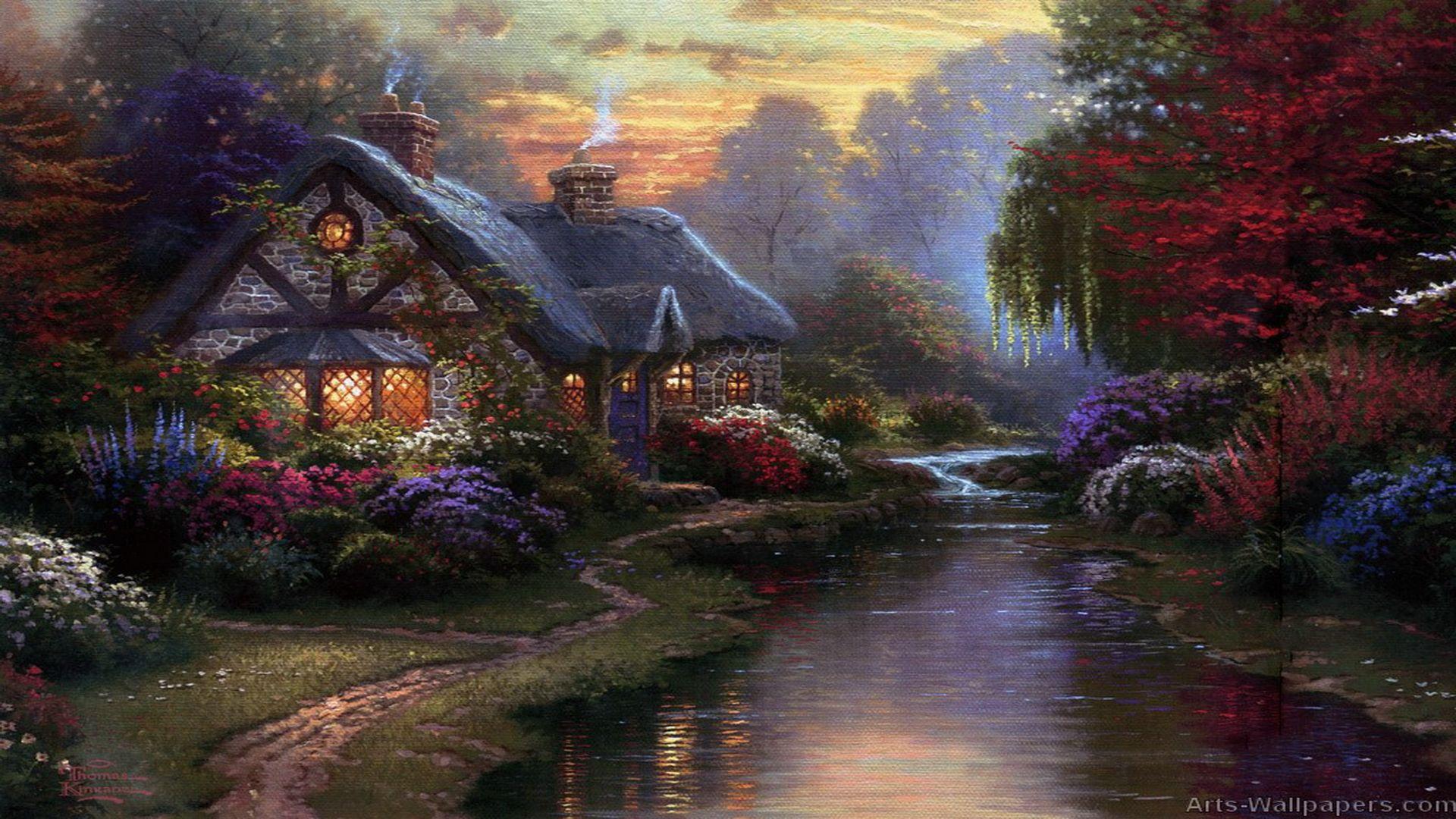 Thomas Kinkade Autumn Paintings | Megan Fox Wallpapers ...