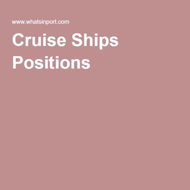 Cruise Ships Positions Webcams Pinterest Cruise Ships And - Positions on a cruise ship