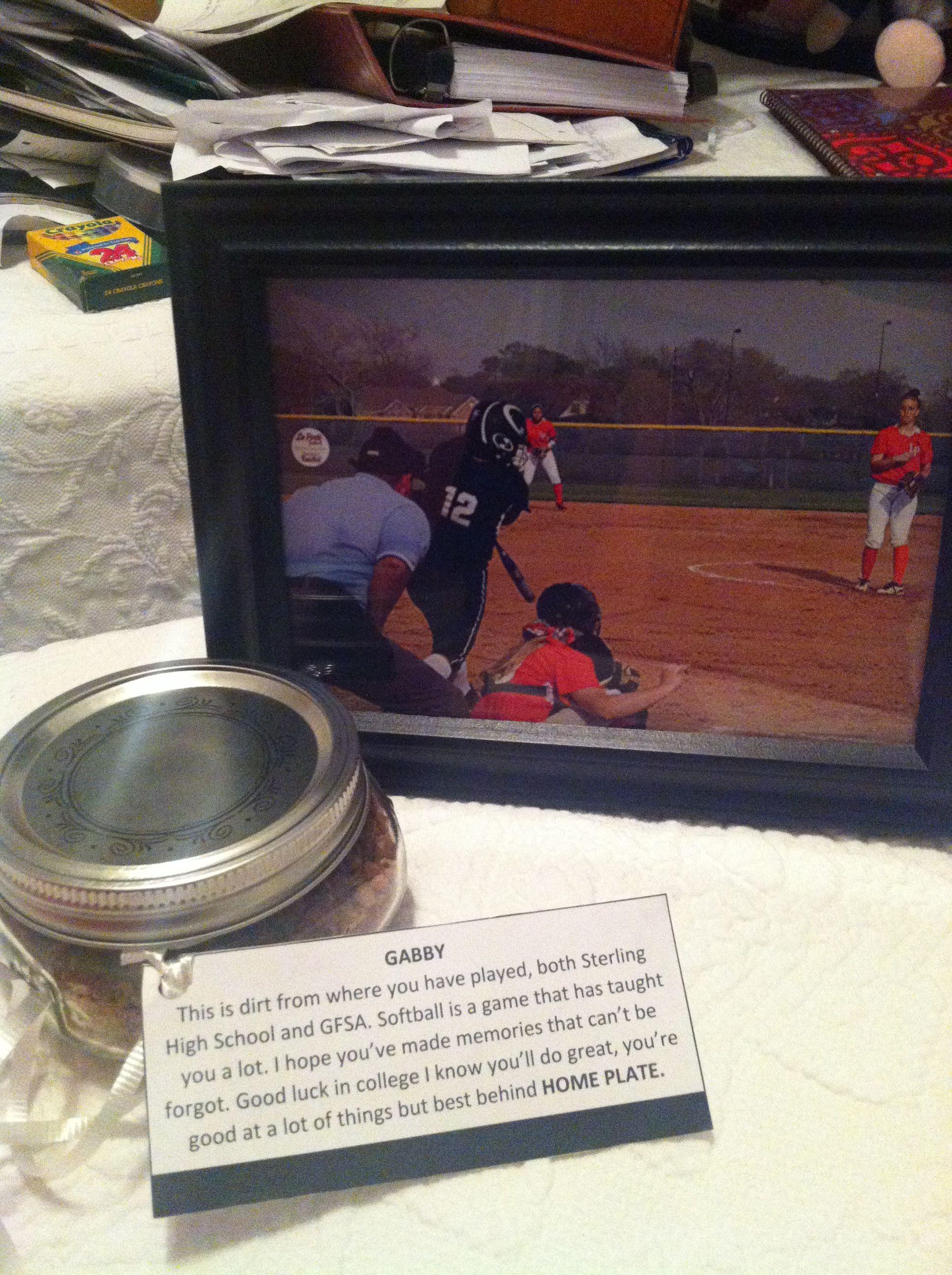 Senior Night Quotes For Softball: Softball Senior Night Gift! A Framed Action Shot And A Jar