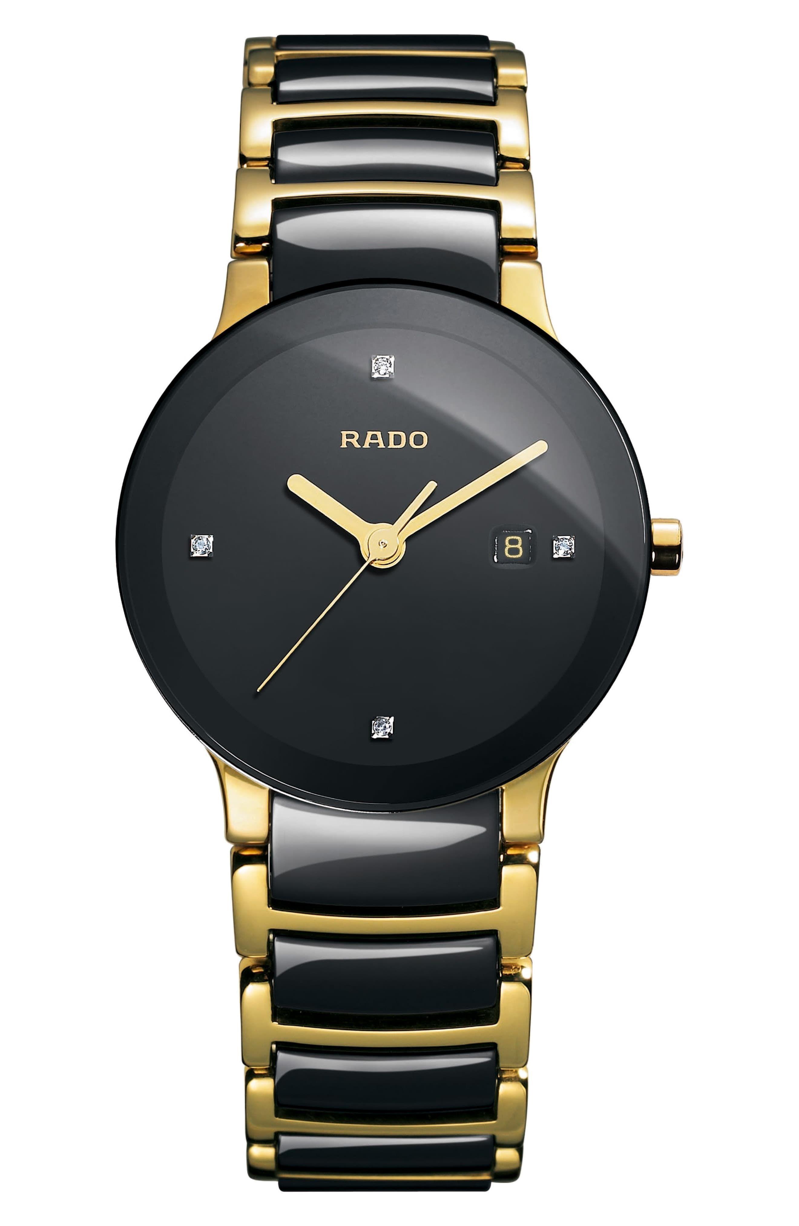Women S Rado Centrix Diamond Bracelet Watch 28mm Rado Watches Women Bracelet Watch Luxury Watches For Men