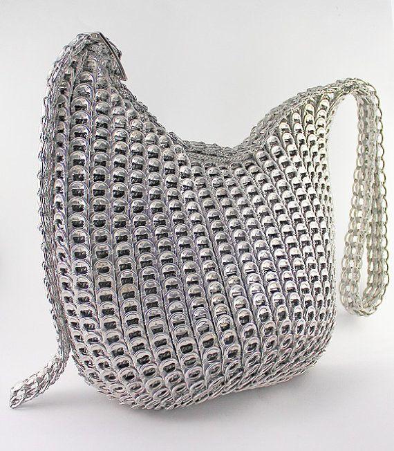 soda pop tab handbag gotcha silver pinterest dosenverschl sse h keln und taschen. Black Bedroom Furniture Sets. Home Design Ideas