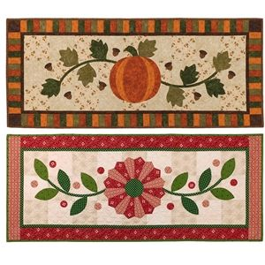 Fall Into Winter Offers Two Table Runner Patterns. The Dresden Pieces For  The Winter Pattern
