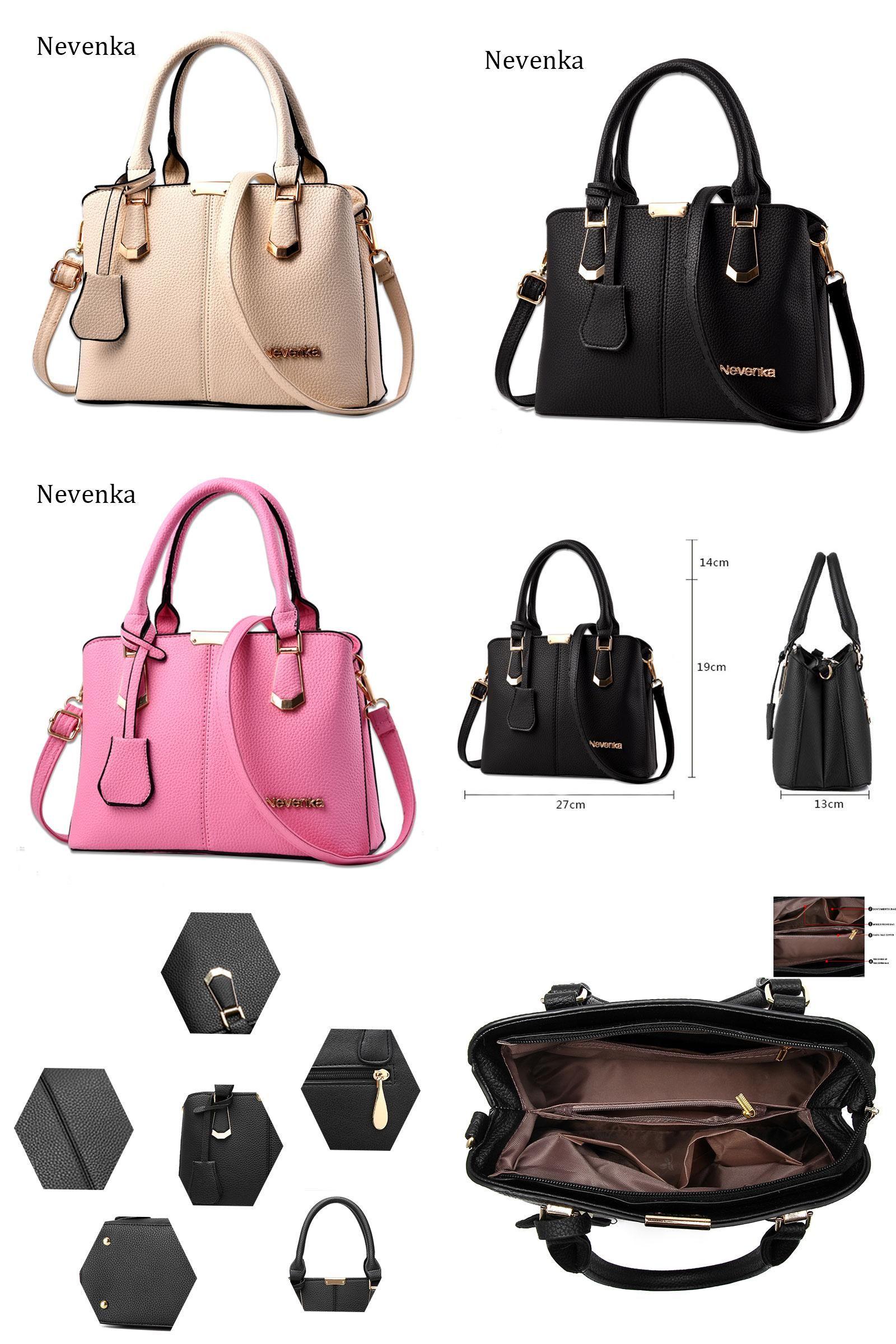 90d42a1acffb [Visit to Buy] Nevenka Women Bag Lady Handbag OL Style Shoulder Bags Casual  Zipper Messenger Bags PU Leather Bag Brand Name Tote Satchel Sac  #Advertisement