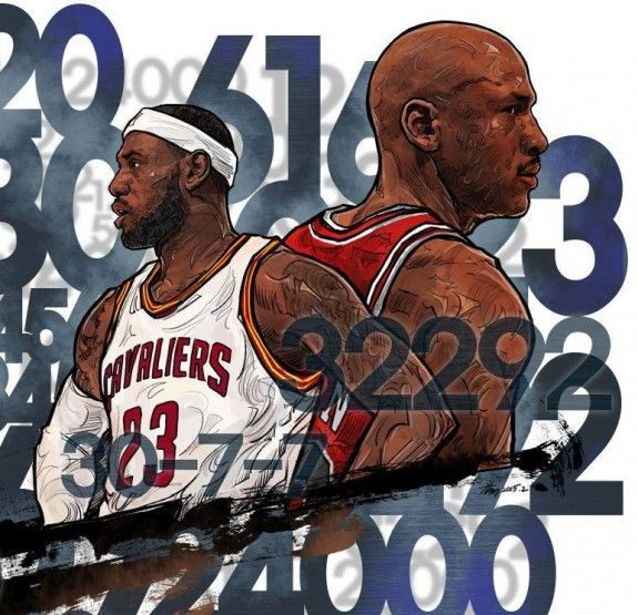 LeBron James vs Michael Jordan Illustration | Sports Shit ...