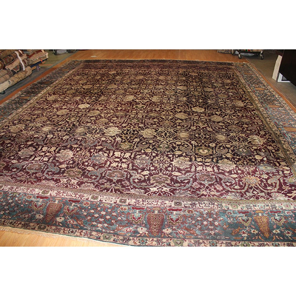 Antique Agra 14 7 X16 10 India Oriental Area Rug