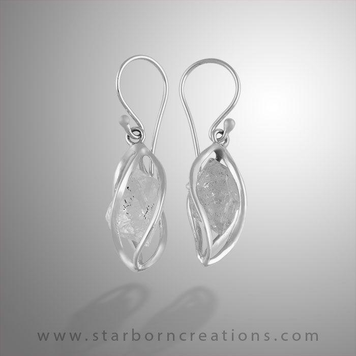 Boucles d/'oreilles gothique NOIRE Papillon similicuir chaînettes strass ROUGE